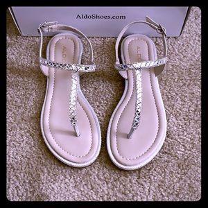 Sliver ALDO sandals